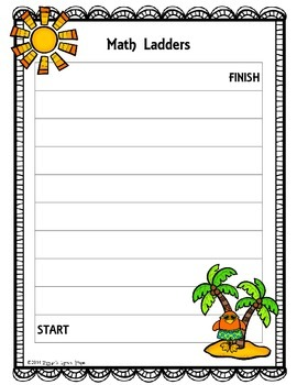 Game Board: Beach Birds {Math Ladders}