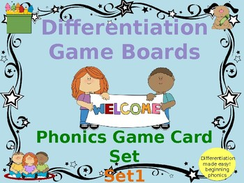 Game Board Beginning Phonics Cards