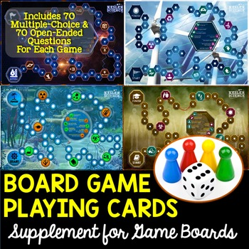 Game Board Cards Supplement with 140 Cards for Each Game