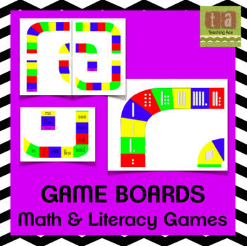 Math and Literacy Board Game Pack - Five Games!