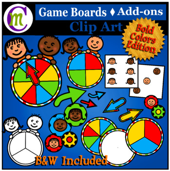 Game Board Clip Art Add-on Set   Bold Colors