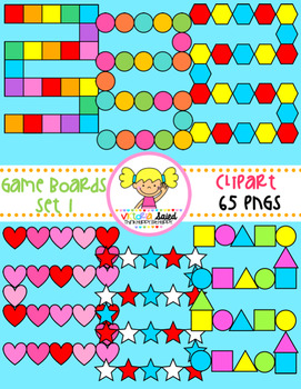 Game Board Clipart {Set 1}