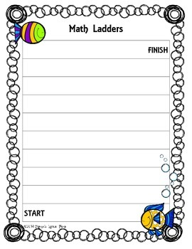 Game Board: Fish & Bubbles {Math Ladders}