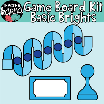 Game Board Kit: Basic Brights * TEMPLATES for DIY