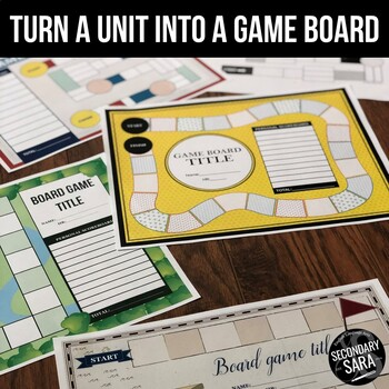Game Board Templates: Turn Any Unit into a Game! (PowerPoint Version)
