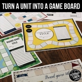 Game Board Templates: Turn Any Unit into a Game! (Google & PowerPoint)