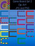 Game Board Set 2 Template Clip Art Color Images Designs