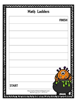 Game Board: Spooky Monsters {Math Ladders}