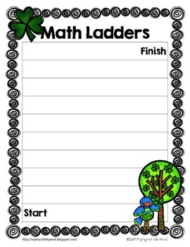 Game Board: St. Patrick's Day {Math Ladders}
