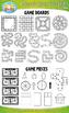Game Board Template Clipart {Zip-A-Dee-Doo-Dah Designs}