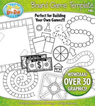 Game Board Template Clipart Set — Over 30 Graphics!