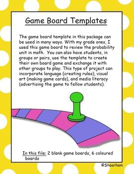 Game Board Templates