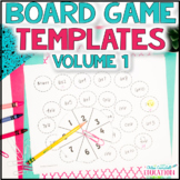 Blank Board Game Templates for Classroom or At Home Learning   Volume 1