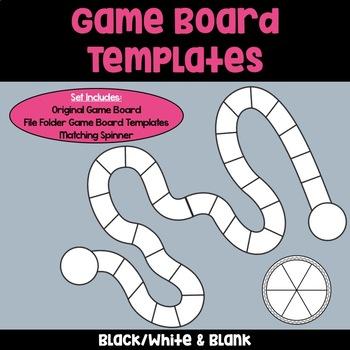 Game Board Templates: Black & White