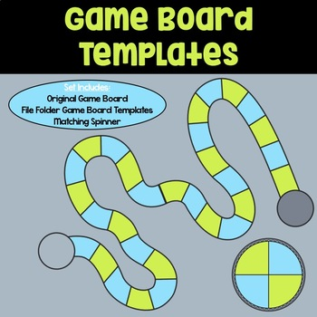 Game Board Templates: Blue & Green