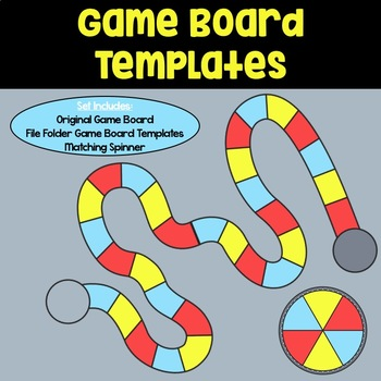 Game Board Templates: Red, Blue & Yellow