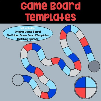 Game Board Templates: Blue, Grey, and Red