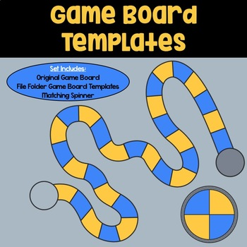 Game Board Templates: Blue & Orange by The Art of Literacy | TpT