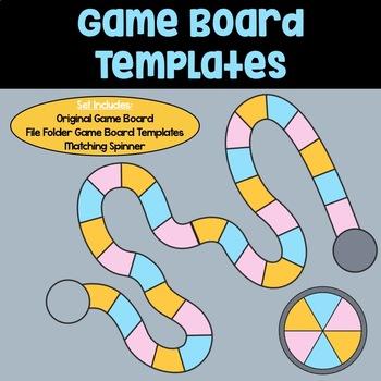 Game Board Templates: Blue, Pink & Orange