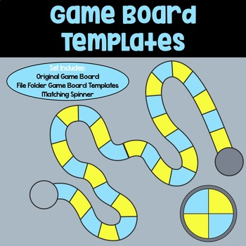 Game Board Templates: Blue & Yellow