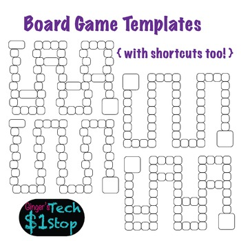 Board Game Templates * Simple Squares * Fun Stuff