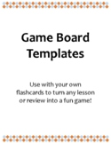 Game Board Templates (Including Game Pieces and Instructions)