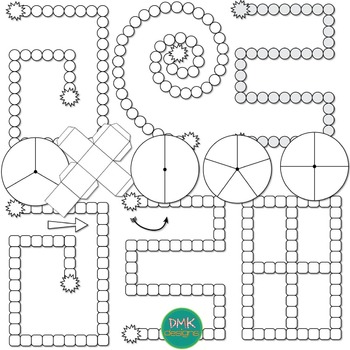 Game Board Templates- Primary Colors