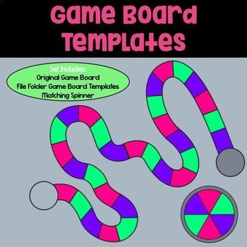 Game Board Templates: Purple, Green & Pink