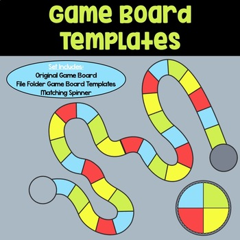Game Board Templates: Red, Blue, Green & Yellow by The Art of Literacy