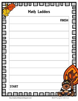 Game Board: Thanksgiving {Math Ladders}