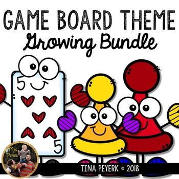 Game Board Classroom Theme Growing Bundle