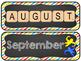 Game Board Themed Calendar Titles