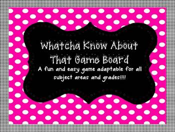 Game Board for All Subjects and Grades!!!! Great review ga