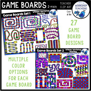 Game Boards BUNDLE Clip Art Whimsy Workshop Teaching
