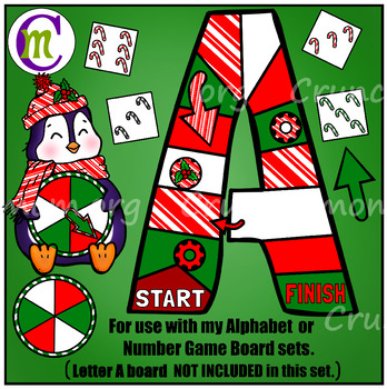 Game Boards Clip Art Add-on Set Christmas Edition