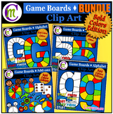 Game Boards Clip Art Bold Colors BUNDLE
