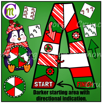 Game Boards Clip Art Christmas Edition BUNDLE