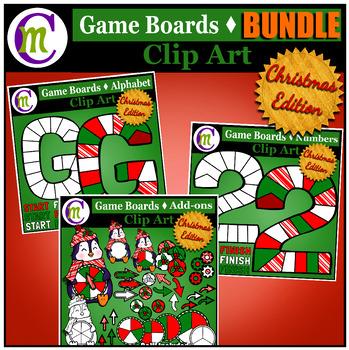 Game Boards Clip Art Christmas Edition BUNDLE