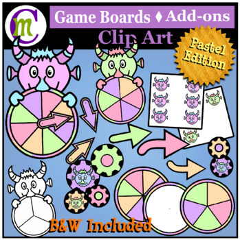Game Boards Clip Art Pastels BUNDLE