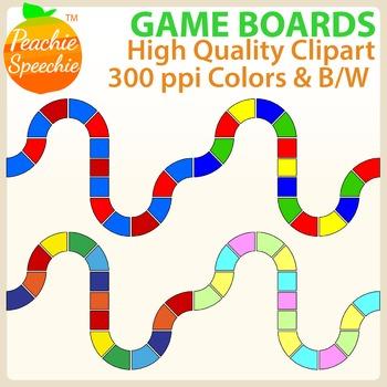 Game Boards Clipart {Peachie Speechie Clipart}