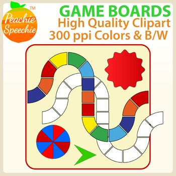 Game Boards Clipart {Peachie Speechie Clipart}