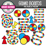Game Boards Clipart - Red, Blue, & Yellow - Gameboards Clip Art