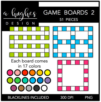 Game Boards Clipart Set 2 {A Hughes Design}