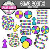 Game Boards Clipart - Spring Colors - Gameboards Clip Art