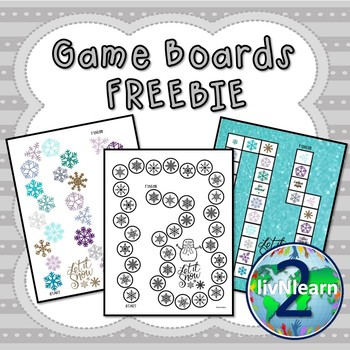 Game Boards FREEBIE! (Set 4)