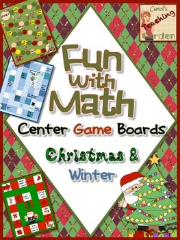 Game Boards Fun with Math Centers Christmas and Winter Theme