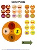 Game Boards Fun with Math Centers Fall Theme