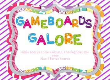Game Boards Galore! Game Boards to Use with Any Subject Area
