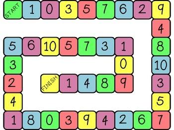 Board Games - Number ID & Number Sense