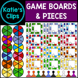 Game Boards & Pieces {Katie's Clips Clipart}